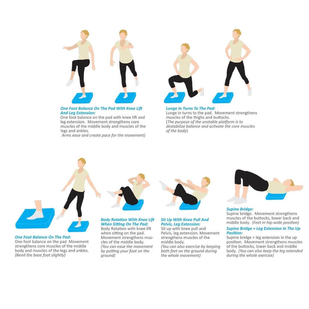 Foam Yoga Balance Pad inSPORTline Brik - Blå