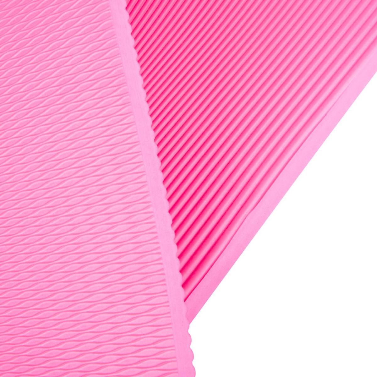 Treningsmatte inSPORTline Profi 100 cm - Rosa (rød)