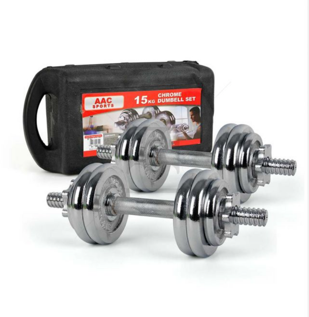 PowerGym adjustable dumbbell set 15kg